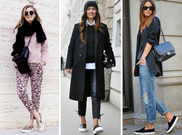 Черные слипоны женские с чем носить
