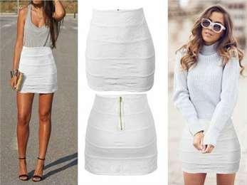 Что носить с белой мини юбкой