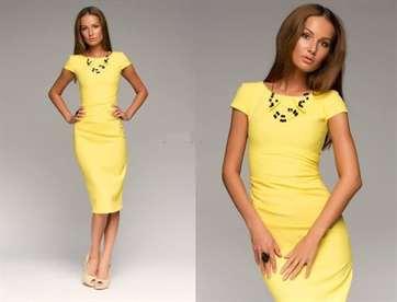 С чем можно носить жёлтое платье