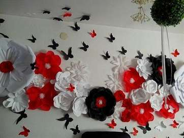 Сделать бумажные цветы своими руками 910