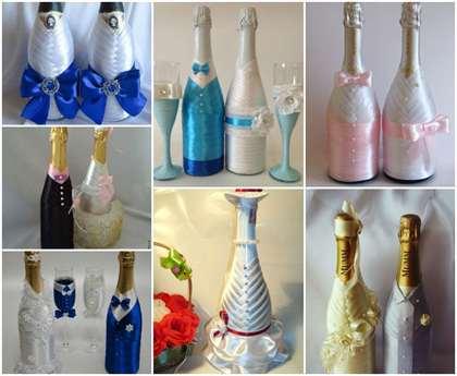 Как украсить своими руками бутылки