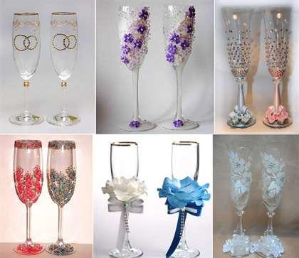 Как украсить стаканы на свадьбу своими руками фото 33