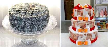 Поздравления к торту из денег 40