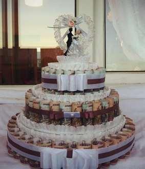 Денежный торт на свадьбу своими руками