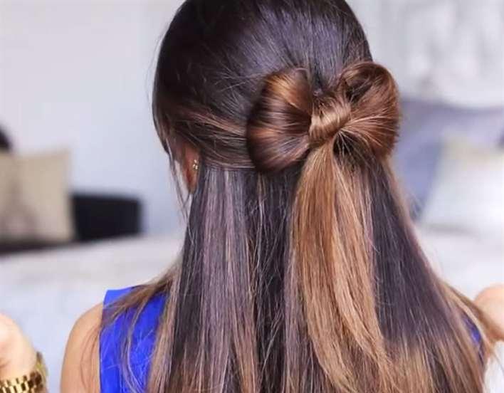 Прическа бант из волос поэтапно фото