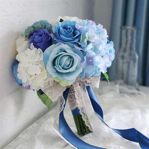 Свадебные букеты искусственные цветы 26