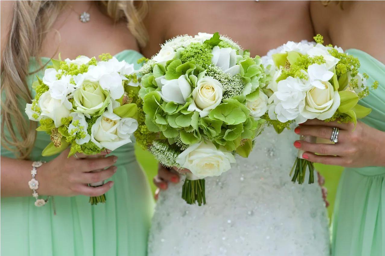 свадьба в зеленых тонах фото