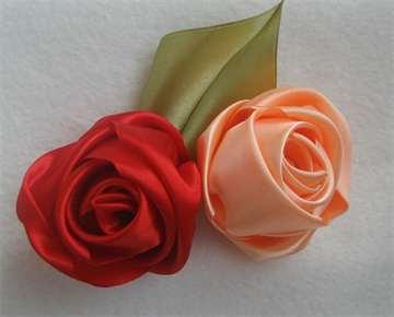01-148 Цветы из лент своими руками – 6 мастер-классов для новичков