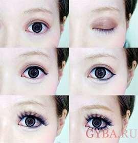 Как с помощью макияжа сделать кукольные глазки