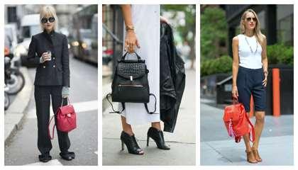 a785f3a084db Аксессуар такого цвета уже сам по себе достаточно заметная деталь, поэтому  одежда должна быть сдержанных тонов. Очень хорошо красный рюкзак смотрится  с ...